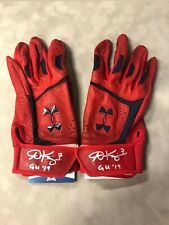 Andrew Knizner Signed St. Louis Cardinals Game Used 2019 UA Batting Gloves BAS