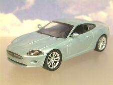 Excelente Parte-Trabajo Diecast 1/43 2005 Jaguar XK Coupe En Plata Azul Blister