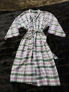Brooks Brothers Womens Plaid Robe Size Small / Medium