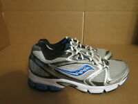 MENS SAUCONY GRID STRATOS 5 GRAY BLUE WHITE RUNNING SHOES SIZE 9M A550
