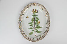 Old Flora Danica  Royal Copenhagen Denmark  oval dish plate platter 20 / 3517