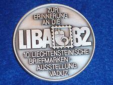 vintage MEDAILLE LIBA 82 timbre 1982 vaduz liechtenstein BRIEFMARKEN stamp EXPO
