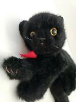 "1996 Ty Classic COAL Black Cat Kitten 10"" Plush yellow eyes Vintage Beanie Baby"