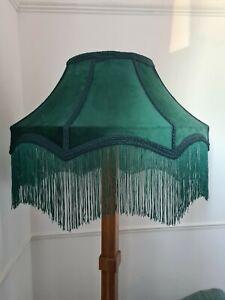 Large Lisa lampshade Green velvet lampshade standard lamp ceiling light handmade