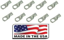 (10) 6 GA. 5/16 Tinned Copper Cable Lug Ring Terminal Welding Battery Marine USA