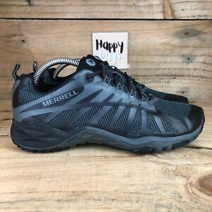 MERRELL Siren Edge Q2 Women's Black/Grey Mountain Hiking Trainers Shoes Size UK6