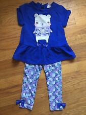 Gymboree Baby Girl 2T Outfit Love Hugs Shirt And Leggings NWT