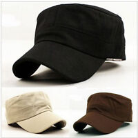 Sommer Einstellbare Classic Army Plain Weinlese-Hut Cadet Military Cap  hot