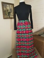 Vintage 1970's Quilted Size 9 Daisy Print Dress Hippie Hostess Cocktail Mod