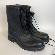 LEATHER Boots MILITARY COMBAT DUTY WORK STEEL TOE VIBRAM Men 11.5 R S2