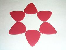 6  Lot-  No Print - 0.71mm Nylon Guitar Picks - Red Color