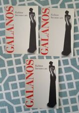 "Vintage 90's GALANOS ""Fashion becomes art"" Set of 3 4 X 6 LACMA Promo Postcards"