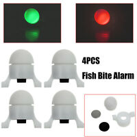 4Pcs Electronic LED Night Fishing Rod Tip Fish Strike Bite Alert Alarm Light US