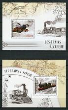 Ivory Coast 2017 MNH Steam Trains GWR Truro 2x 1v S/S Rail Railways Stamps
