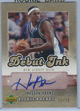 2006-2007 Upper Deck Rookie Debut Basketball Hassan Adams Nets Auto RC  #15/25
