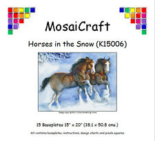 MosaiCraft Pixel Craft Mosaic Kit 'Horses in the Snow' Pixelhobby