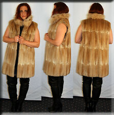 New Muskrat Fur Vest Fur Collar Size Large 10 12 L Efurs4less