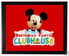 1 Mickey Mouse Clubhouse Birthday Party Favor 8x11 inch Personalized Wall Print