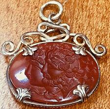 Victorian Gold Filled Carnelian Intaglio Watch Fob Pendant Charm God & Goddess