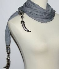 HIPPIE BOHO TRIBAL GOTHIC STEAM PUNK GYPSY Belly Dance Pendant Hip Scarf Sash