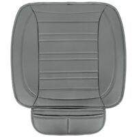 Car Seat Cushion, Gray Faux Leather (2-Pack) - Universal Fit for Front Seats