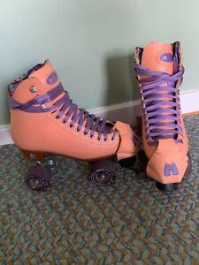 Moxi Beach Bunny Roller Skates - Size 6, Peach Blanket