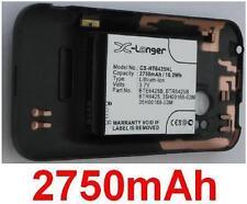 Carcasa + Batería 2550mAh tipo BH98100 BTR6425 BTR6425B Para HTC Rezound 4G LTE