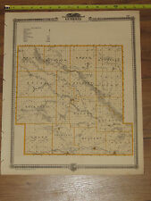 1875 Atlas - Guthrie & Carroll County, Reversable Iowa Map ORIGINAL - center IA