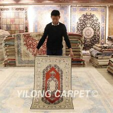 YILONG 2.5'x4' Traditional Handmade Silk Carpet Classic Indoor Great Rug LH950B