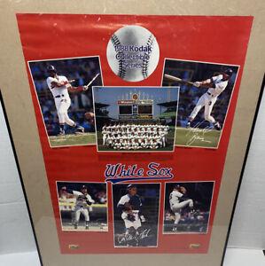 RARE Vintage 1988 Chicago White Sox Poster Guillen Fisk Baines Kodak Collectible