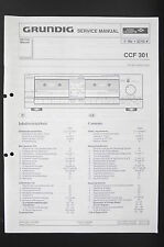 GRUNDIG CCF 301 Original Twin Cassette Deck Service-Manual/Schaltplan/Diagram 85