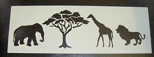 Safari Animal Cake decorating stencil Airbrush Mylar Film