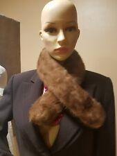 Mink stole wrap, scarf, boa velvet bottom clamps on each side #11