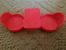 Weeble Wooble Red Picnic Table Reversible Fire