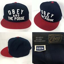 OBEY And The Posse Osfa SnapBack baseball cap In Blue & Red Men's