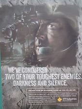 2000'S PUB ITT NIGHT VISION GEN 3 SINCGARS BOWMAN WARFIGHTER VISION NOCTURNE AD