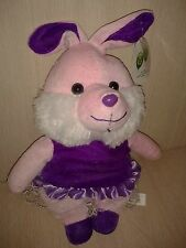 Plush Pink Bunny Rabbit Purple Dress and shoes