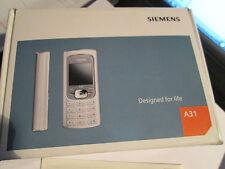 Siemens a 31 OVP Anthracite/plata simfrei con cargador Gebr Art nº 10x