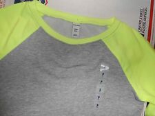 Girls Boys Shirt Baseball Crew Old Navy Neon&Gray and Blue&White Size Medium M 8