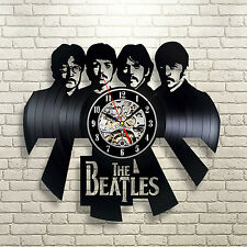 The Beatles Wall Clock Collection Gift Style Watch Office Black Modern Handmade