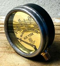 Rare Dated 19101911 Vintage Brass Ashcroft Pressure Gauge Antique Steampunk