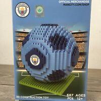 Official Manchester City Team 687 Pcs Bricks Gift Construction Ball 3D not LEGO