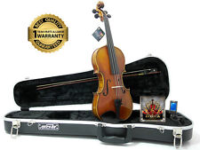 D'Luca Strauss 500 Symphony Violin 4/4 with SKB Molded Case, Strings and Tuner