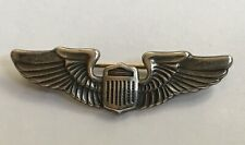 "VINTAGE STERLING SILVER U.S. AIR FORCE PILOT'S LAPEL PIN WINGS 1 1/2"" INCHES"