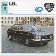 1969-1990 TATRA 613 Classic Car Photograph / Information Maxi Card