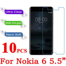10 x Clear Plastic Screen Guard LCD Protector Film Layer - Nokia 6