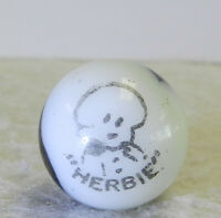 #12569m Vintage Peltier Comic Picture Marble Herbie .69 Inches