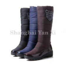 Womens Ladies Waterproof Snow Boots Knee High Boots Winter Warm Fur Shoes