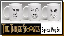 Three Stooges White Coffee Mug Set