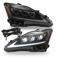 AMBER FULL LED Headlights for 06-13 IS250/350 Sedan 10-15 C/ C F Conv 08-14 IS F